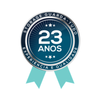 20 Anos. Selo de Experiência e Qualidade