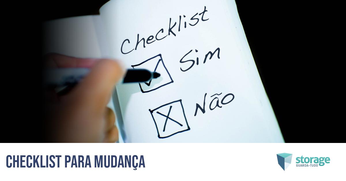 checklist para mudança
